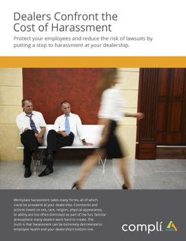 Dealers Confront the Cost of Harassment