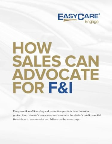 How Sales Can Advocate for F&I