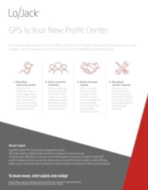 GPS Is Your New Profit Center (Infographic)