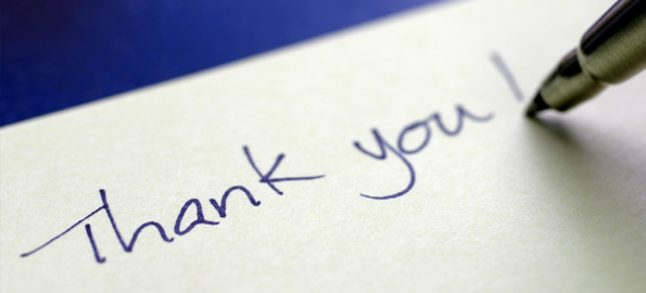 Developing the Thank You Notes Habit