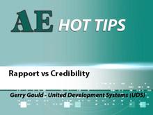 Rapport vs Credibility
