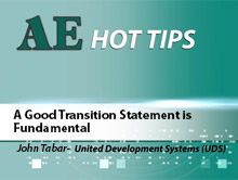 A Good Transition Statement is Fundamental