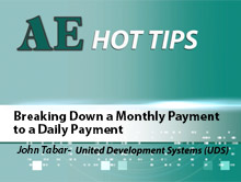 Breaking Down a Monthly Payment to a Daily Payment