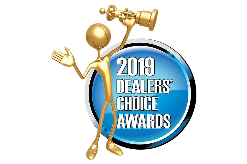 Executives representing Dealers' Choice Awards-winning F&I product, training, and financial...