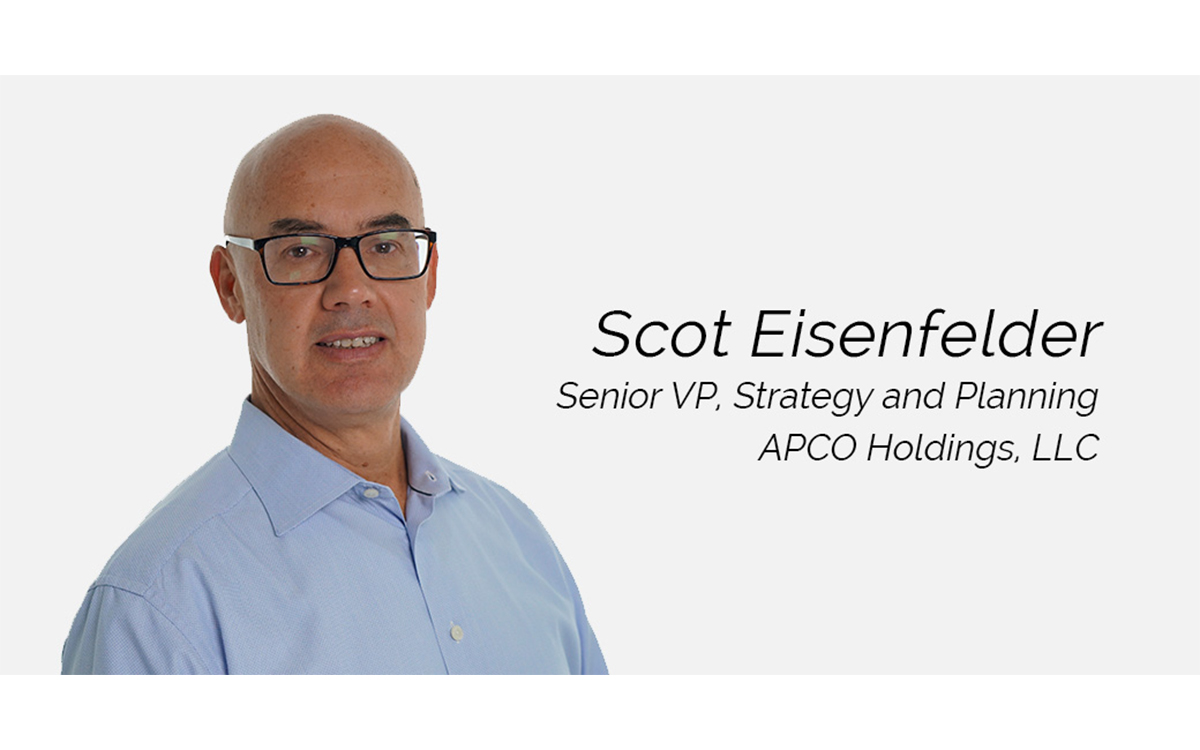 APCO Holdings, LLC, Welcomes Scot Eisenfelder as Senior Vice President, Strategy and Planning
