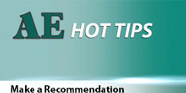 AE HOT TIP: Make a Recommendation
