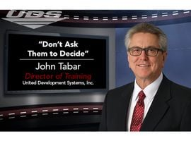 It's easier to make a choice than a decision, but for some reason, many F&I managers force customers to make big decisions throughout the transaction. John Tabar of UDS suggests offering options and letting the customer choose, rather than decide, what to do. Choose to take your career to the next level with this AE Hot Tip.