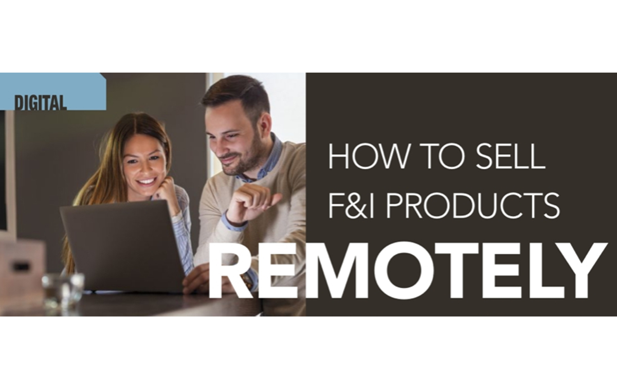 How to Sell F&I Products Remotely