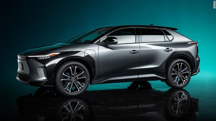 The bZ4X markets Totyota's entry into all-electric vehicles. - Toyota Motor Corp.