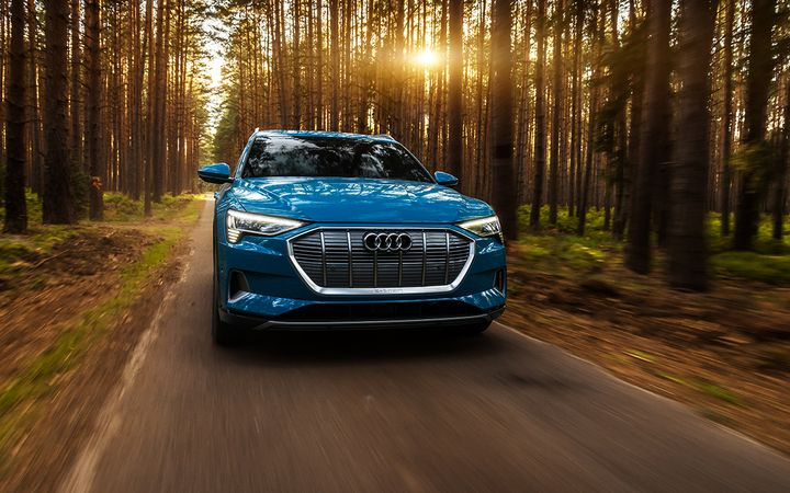 The 2019 Audi e-tron is among the electric vehicles that have exceeded the 200-mile-range mark in time to entice Memorial Day buyers. 