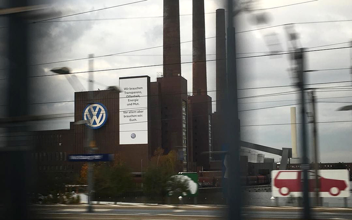 "A sign that appeared on Volkwagen's Wolfsburg plant at the height of the Dieselgate scandal stated, ""We need transparency, openness, energy, and courage. Above all, we need you.""