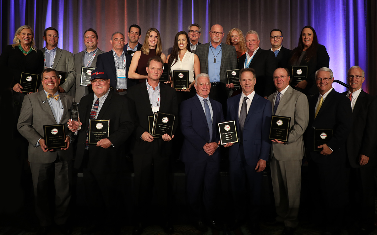 A group of Dealers' Choice Awards winners posed for a group photo at the 2018 Industry Summit Honors in Orlando, Fla.  - Photo by Kate Spatafora