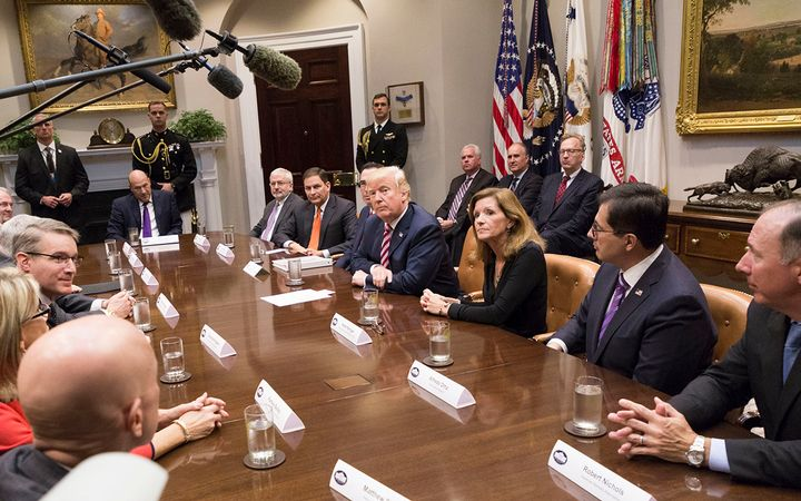 President Donald Trump met with business leaders and experts on Oct. 31, 2017, shortly before the passage of his administration's sweeping tax reform package. 