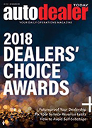 Auto Dealer Today Q4 2018 Magazine Cover