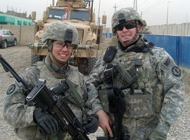 Spouses Danielle and Chris Swihart served together in the U.S. Army's Military Police Corps. Attorney and retired Army officer John Berry urges hiring managers and coworkers to avoid asking veterans questions that could be perceived as disrespectful or cause discomfort.