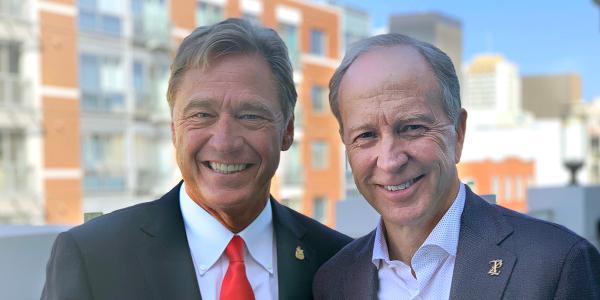 Rhett Ricart and (left) Paul Walser will serve as NADA chairman and vice chairman next year.