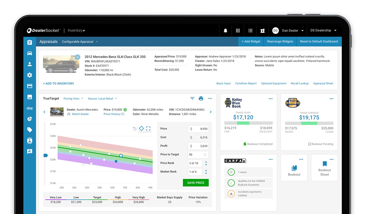 DealerSocket Adds Single Page Appraisal to Inventory+