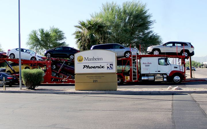The Manheim Express mobile app now offers a new way to order vehicle transportation.  - Photo courtesy Manheim