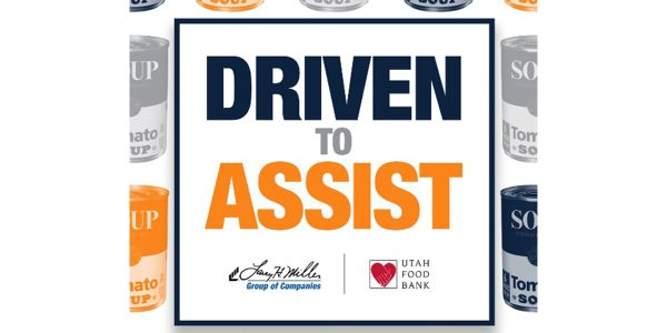 """Driven to Assist"" thank you items available in support of Utah Food Bank."