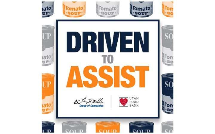"""Driven to Assist"" thank you items available in support of Utah Food Bank. -"