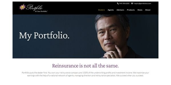 PortfolioReinsurance.com was redesigned to offer dealers and agents an intuitive, interactive...