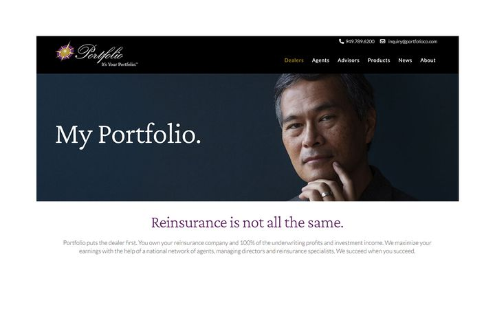 PortfolioReinsurance.com was redesigned to offer dealers and agents an intuitive, interactive experience in a mobile-friendly format. -