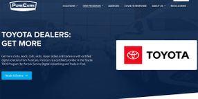 PureCars' Multi-Channel Digital Advertising Platform Selected By Toyota For Dealer Parts & Service Program