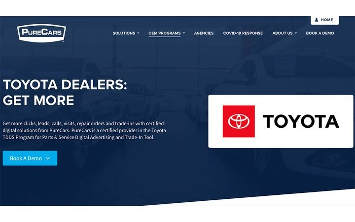 Digital advertising platform helps Toyota dealers promote fixed ops programs & offers. -