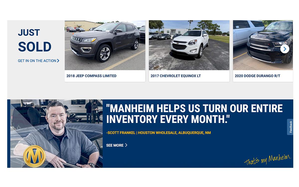 Manheim Expands Digital Block Sales to 50+ Locations