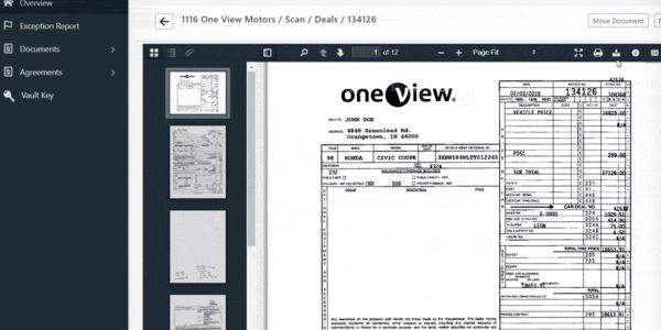 One View Vault gives dealerships even more power to archive, access,and retain DMS documents.