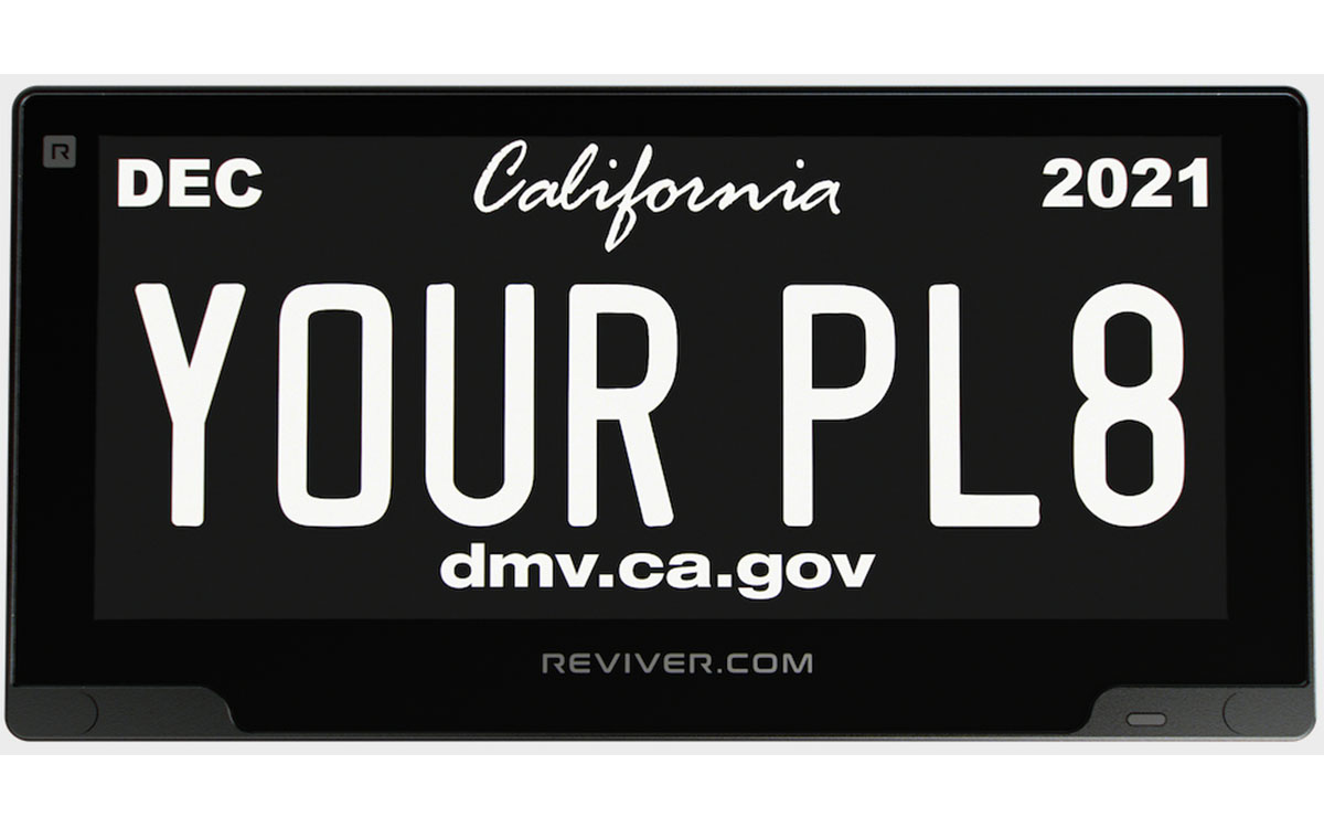 Reviver Launches Battery Powered, Easily Installable Versionof its Rplate Digital License Plate