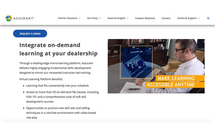 """New """"Salesperson Training"""" modules available in Assurant Virtual Learning Platform, furthering multi-channel training offerings to dealers. - IMAGE: AssurantGlobal.com"""