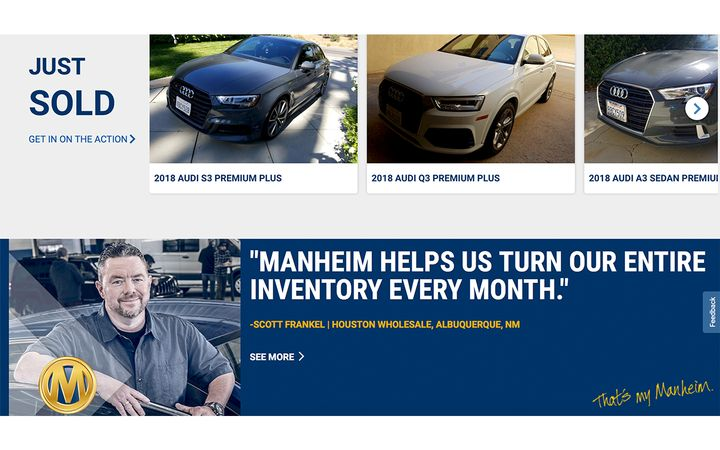 This change brings the total number of Manheim sites offering live, physical sales to 14. - IMAGE: Manheim.com