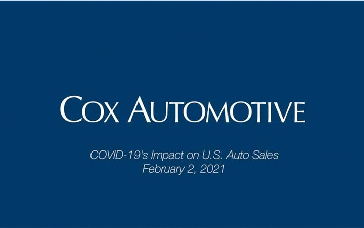 Auto sales activity likely slowed in the final days of January, notes Cox Automotive's Chief Economist Jonathan Smoke, as consumer sentiment waned and heavy winter weather ran through major markets in the Midwest and Northeast. - IMAGE: Cox Automotive