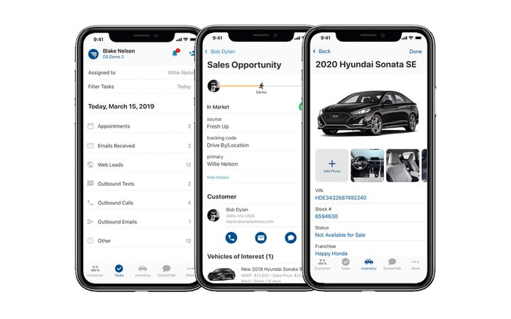 DealerSocket's all-new Mobile CRM is designed to save users valuable time, increase closing ratios, and keep managers connected with anywhere-at-anytime access to critical data. - IMAGE: DealerSocket