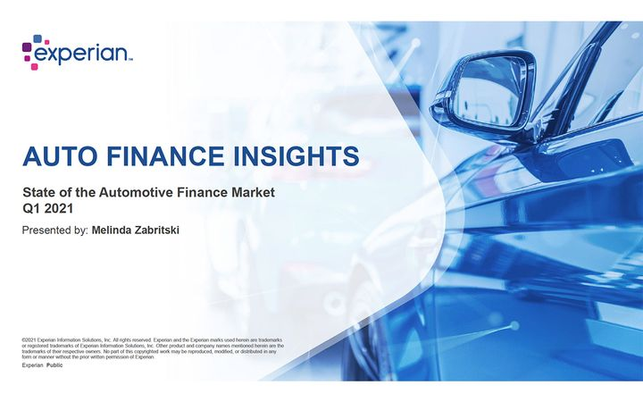 Experian's latest report also highlights geographic trends in automotive finance. - IMAGE: EXPERIAN