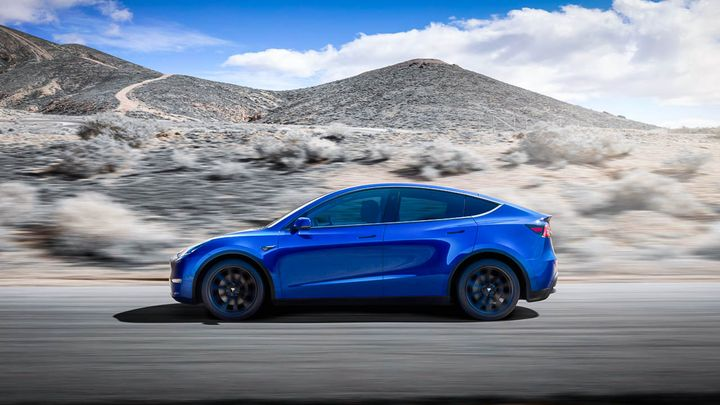 Tesla's new model, the Model Y, saw registrations skyrocket 71%, from 2,260 in 2020 to 53,102 over the same period in 2021. - Tesla