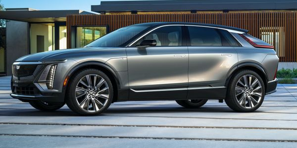 Cadillac's Lyriq, a midsize crossover with a base price of $59,990, will reach dealerships in...