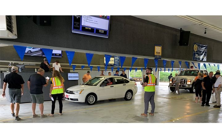 Manheim's local auction network hosts 49 sales per month nationwide, with dealers averaging a 77% sales efficiency rate based on Manheim data. - IMAGE: Manheim