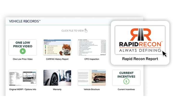 The Digital Vehicle Portfolio helps dealers convert more shoppers to engaged and active sales leads. - IMAGE: Rapid Recon