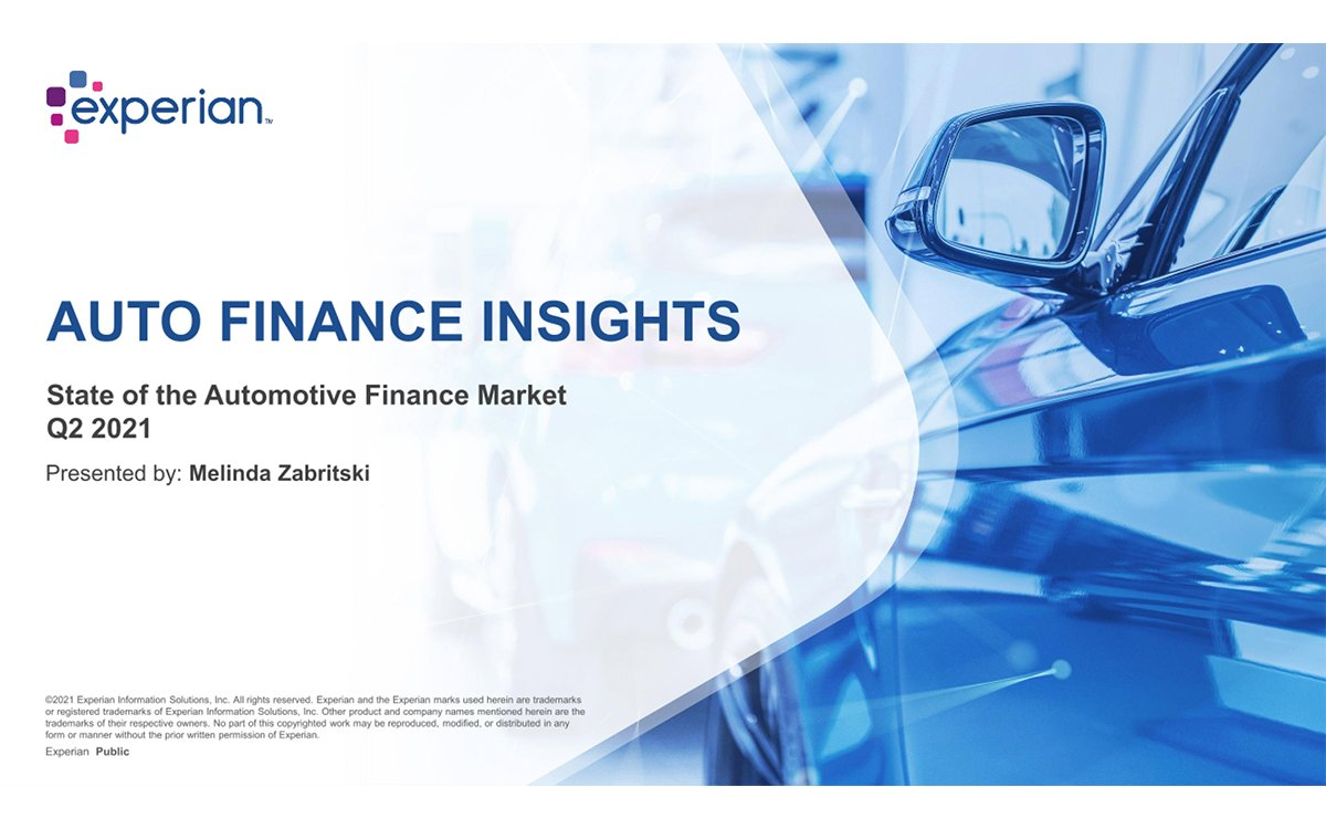 New Vehicle Financing Returning to Pre-Pandemic Levels