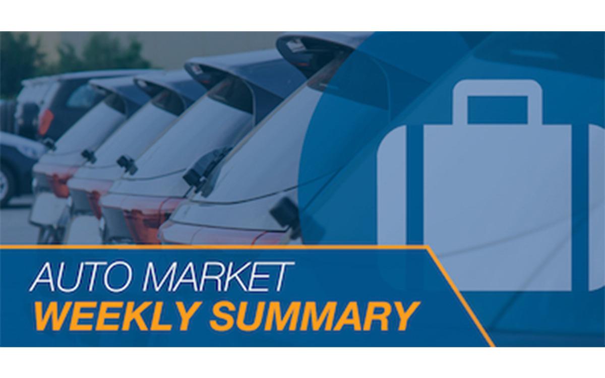 Cox Automotive: Auto Market Weekly Summary