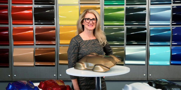 "Global Color Marketing Manager Nancy Lockhart unveils ""Sahara,"" Axalta's Automotive Color of the..."