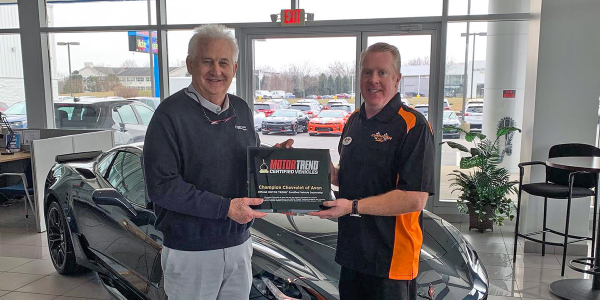 EasyCare's Steve Richards (left) joined dealer Tim Roberts at Central Indiana's Champion...