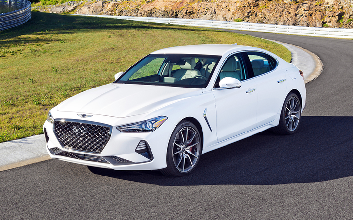 The Genesis G70 was named 2019 North American Car of the Year at the North American International Auto Show in Detroit.