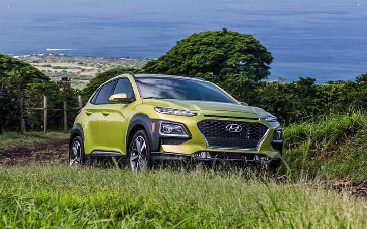 The Hyundai Kona/Kona EV beat out the Acura RDX and Jaguar I-Pace to win 2019 North American Utility Vehicle of the Year honors.   - Photo courtesy Hyundai Motors America