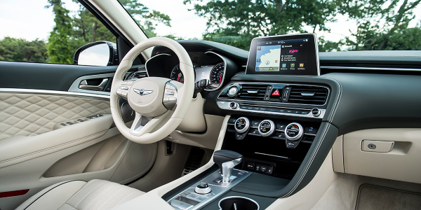 An available Prestige package upgrades the Genesis G70's already luxurious cabin but doesn't...