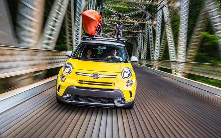 Residual values for pre-owned subcompacts such as the 2016 Fiat 500L declined by an average of 2.29% in February, according to Black Book's latest report.   - Photo courtesy Fiat Chrysler Automobiles