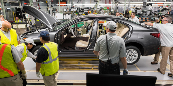 Factories and dealers had a 78-day supply of new cars and light trucks on hand at the beginning...