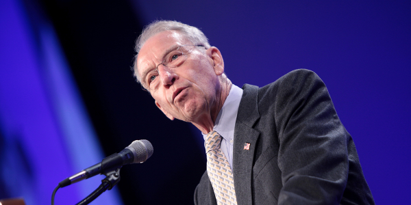 Republican Sen. Chuck Grassley of Iowa is part of a bipartisan contingent pushing Congress to...
